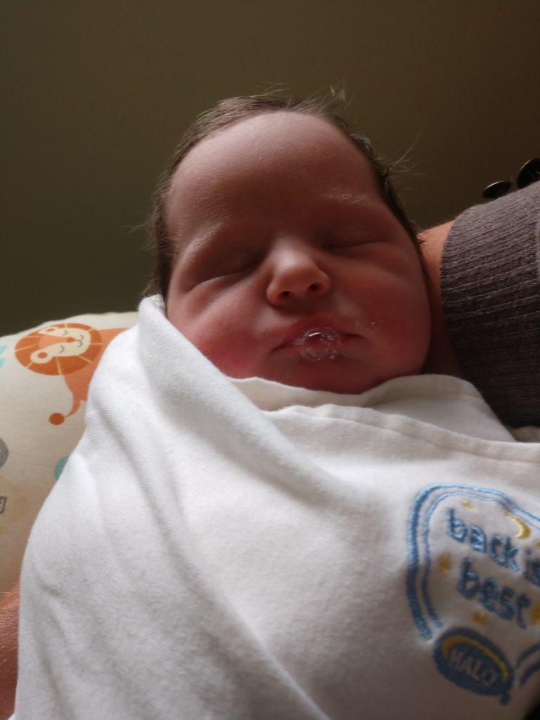 Our goddaughter, Scarlet!