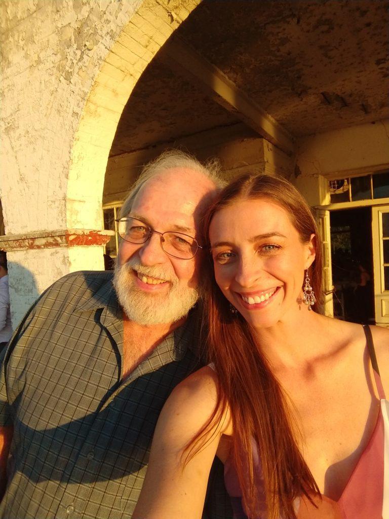 Brooke & her dad in Detroit