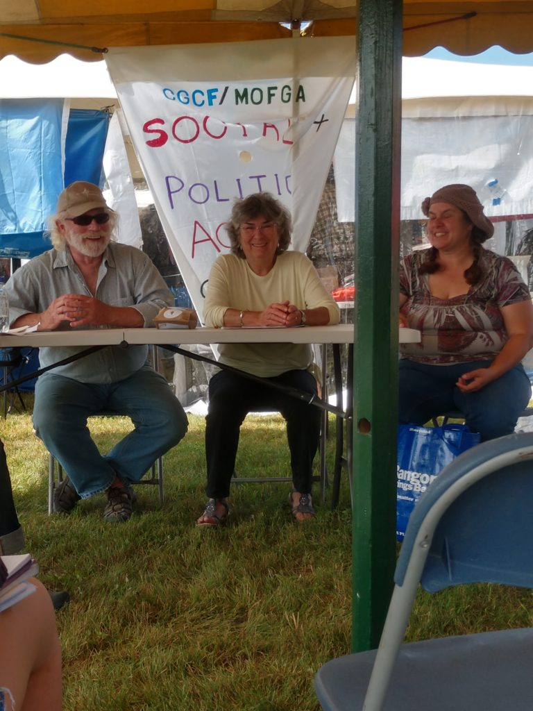Steve on a pannel discussing food soverignty at MOFGA's Common Ground Fair.